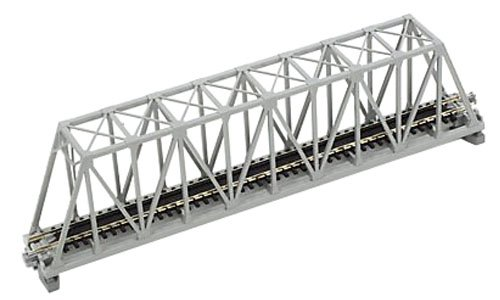 "Kato N Scale 9-3/4"" Truss Bridge, Gray - 1"