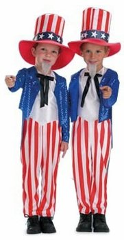 Child's Toddler Uncle Sam Halloween Costume (Size:Toddler 2-4T)