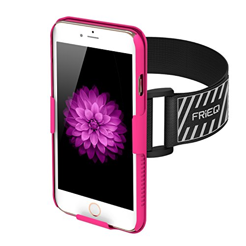 iPhone 6 Armband, FRiEQ Armband for Apple iPhone 6 - Lightweight & Fully Adjustable - Ideal for Workout, Hiking, Jogging, Gym, Running or Other Sports (Pink)