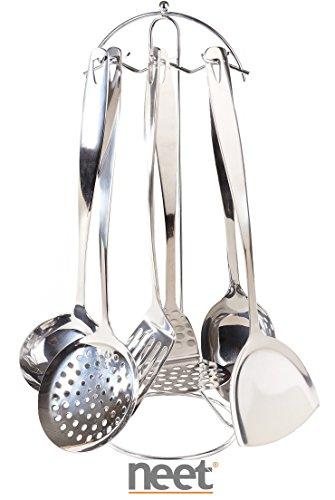 Neet Stainless Steel Kitchen Tool Set, 7PCS, Model #KTSS7 (Stainless Steel Kitchen Utensils compare prices)