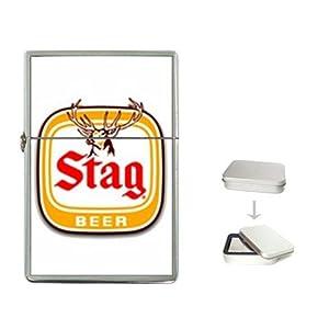 amazoncom stag beer logo flip top lighter health