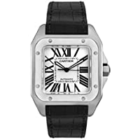 Cartier Men's W20073X8-Blue Santos 100 XL Automatic Watch by Cartier