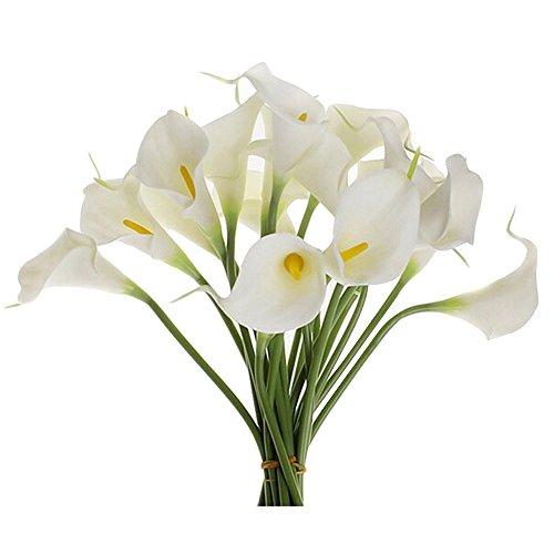 japace 10 pcs k nstliche calla lilien blumen bouquet. Black Bedroom Furniture Sets. Home Design Ideas