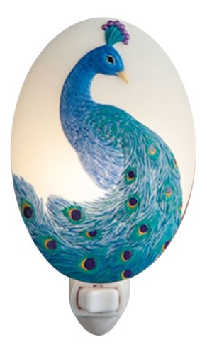Peacock Night Light - Ibis & Orchid Flowers of Light Collection