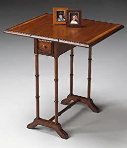 accent furniture mayfair drop leaf table accent table umber finish drop. Black Bedroom Furniture Sets. Home Design Ideas