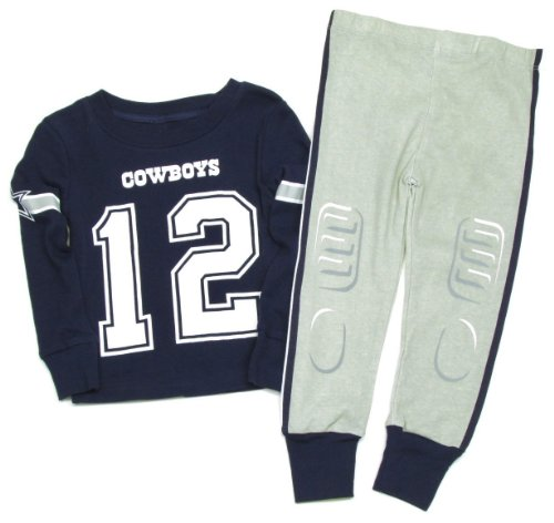 Dallas Cowboys Baby Boys Jr. Sleep Set - Navy Blue (4T)