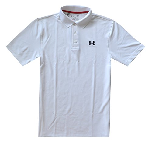 Under Armour Men UA Golf Performance Logo Polo T-Shirt (S, White)