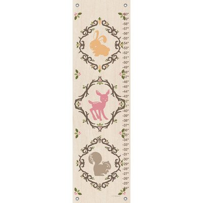 Oopsy Daisy Enchanted Forest Animals Jen Christopher Growth Charts, Neutral, 12 x 42""