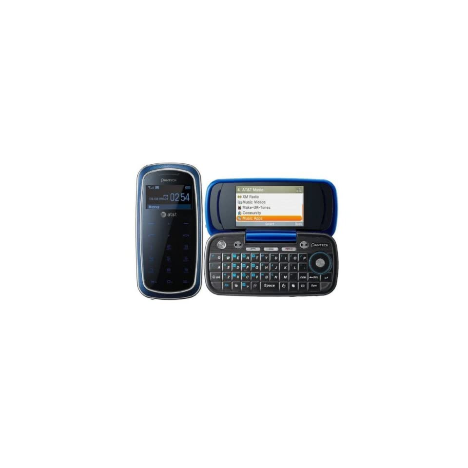 Pantech Impact P7000 Unlocked GSM Phone with OLED Touchscreen Dialing Pad, QWERTY Keyboard, 2MP Camera, Video, A GPS, Bluetooth, /MP4 Player and microSD Slot   Blue Cell Phones & Accessories