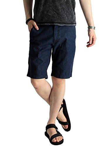 (ラフタス)Rafftas ストレッチ デニム ショートパンツ 春 夏 秋 冬 大きめ ビッグ 広い メンズパンツ ショーツ ショート デザイナーズ  XL サイズ インディゴ ネイビー