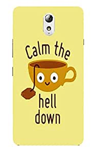 Back Cover for Lenovo Vibe P1M Calm the hell down