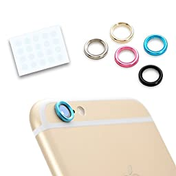 5 Colors Camera Ring + 20x Lens Protector Film for iPhone 6 4.7