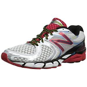 New Balance Men's M1260v3 Running Shoe,White/Red,10.5 D US