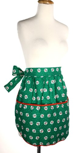 Hey Viv ! 50's Vintage Style Apron: Holly Holiday - with Free Retro Recipe Card