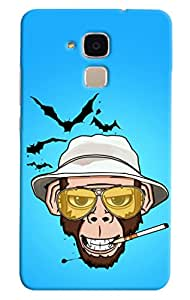 Omnam monkey smoking with smile back cover for Huawei Honor 5C