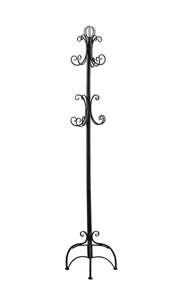Monarch Specialties I 2027 Antique White Metal Coat Rack, 72