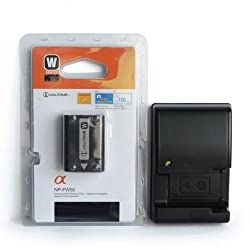 NP-FW50 Battery + Charger BC-VW1 for ,NEX-7 F3 A7R DSCR-RX10 A6000 Alpha A33