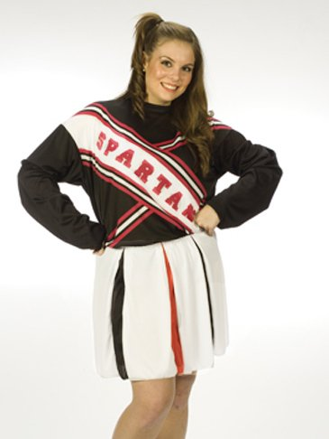SNL Spartan Cheerleader - Plus Size 1X/2X - Dress Size 16-24