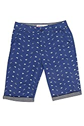 Poppers by Pantaloons Boy's Cotton Shorts (205000005616568, Blue, 9-10 Years)