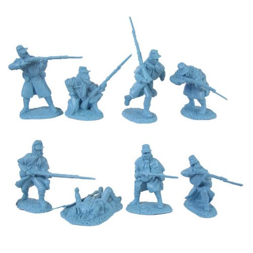 Buy Low Price TSSD Civil War Union Infantry Greatcoat Plastic Army Men: 16 LIGHT BLUE 54mm Figures – 1:32 scale (B002ZZR09M)