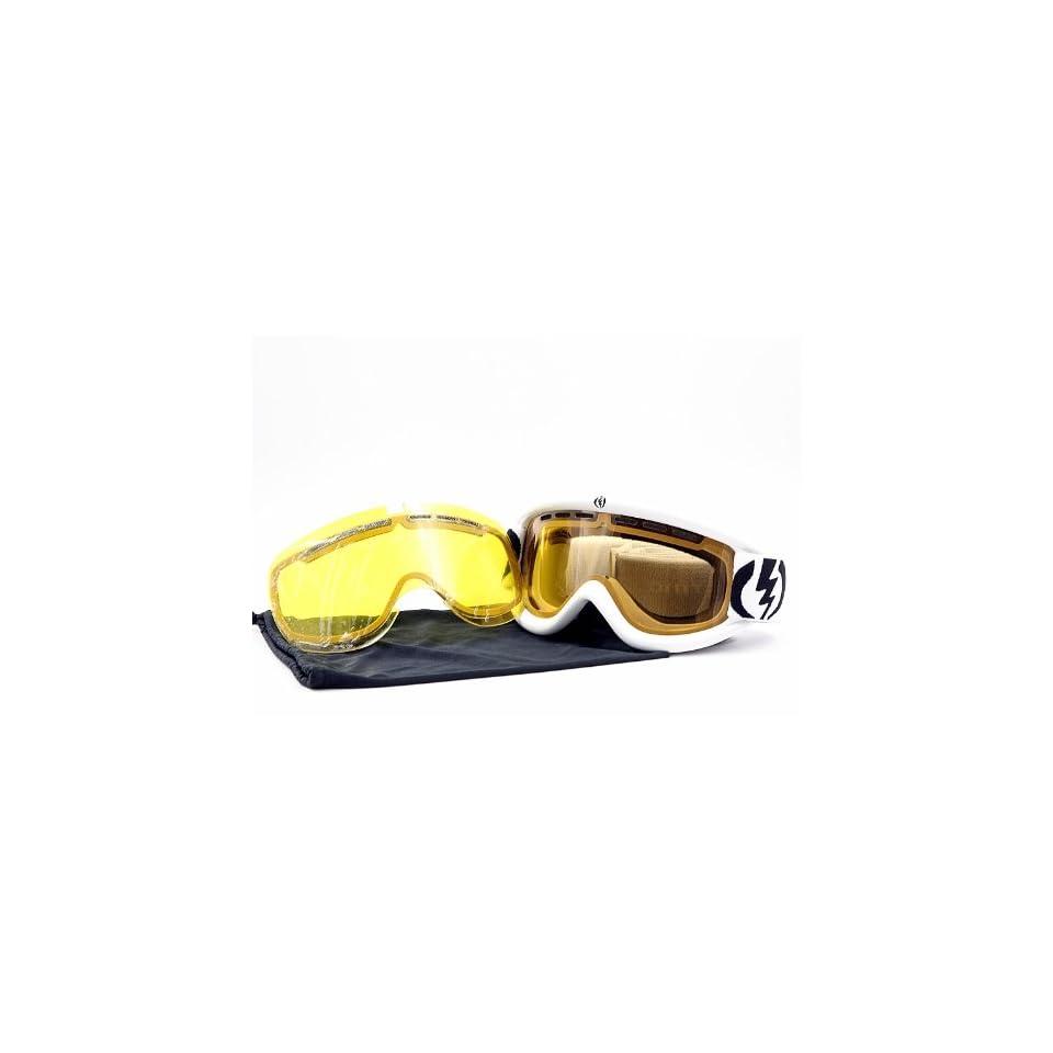 222a057ad8a Electric Snow Ski Goggles EG.5 Gloss White Orange EG0211001 Org W  Extra  Lens