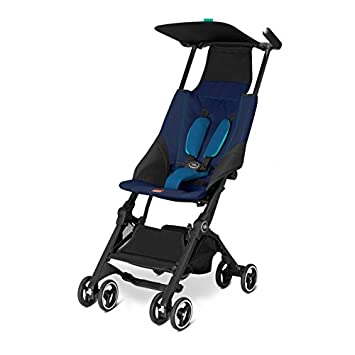 GoodBaby POCKIT Stroller Sea Port Blue fits in plane or train overhead compartment