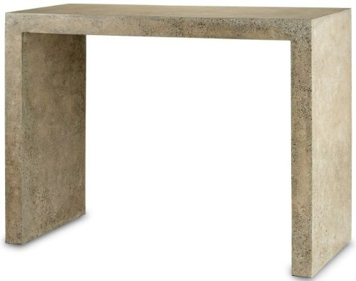 Cheap Currey and Company 2001 Harewood – 48″ Console Table, Polished Concrete Finish (B0051GP7OC)