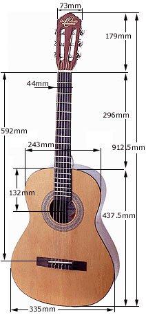 Oscar Schmidt OC1 3/4 Size Classical Guitar (Natural Satin)