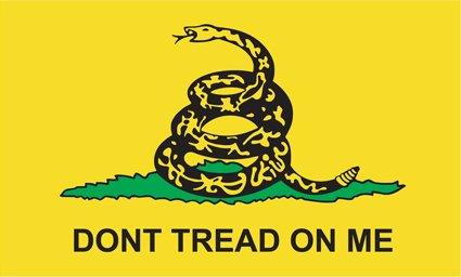 Don't Tread On Me - Gadsden Flag tea party anti obama bumper sticker