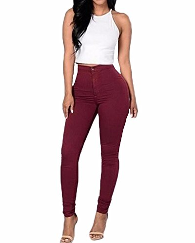 ZANZEA-Femme-Pantalons-5-Couleurs-Jeans-Sexy-Taille-Haute-Pencil-Slim-Legging-Skinny-Stretch-Leggings-Crayon-Pants
