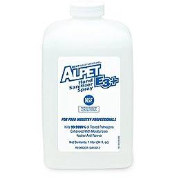 Best Sanitizers SA10012 Alpet E3 Plus Hand Sanitizer Spray, 1000mL Bottle (Case of 6)