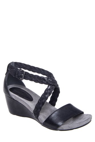 Bussola Malmo 1496 High Wedge Braided Ankle Strap Sandal