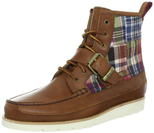 Polo Ralph Lauren Men's Saddleworth Boot,Tan/Multi,7 D US