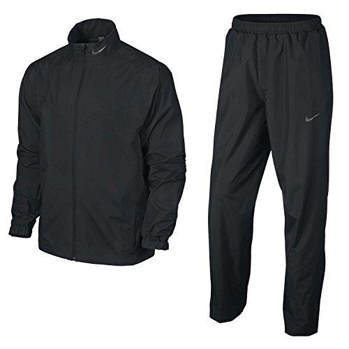 Nike Mens Waterproof & Wind Resistant Storm Suit (Jacket & Pants/Trousers) (2XL) (Black)