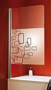 Schulte D1650 Badewannenaufsatz Duschwand 1tlg. 800x1400mm, Sicherheitsglas,4 Gläser,4 Profilfarben  BaumarktKundenbewertung und weitere Informationen
