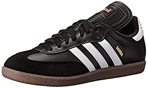 adidas Men's Samba Classic Soccer Shoe,Black/Running White,10 M