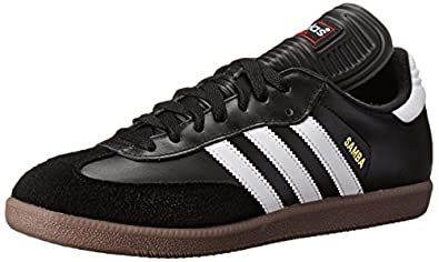 adidas Men's Samba Classic Soccer Shoe,Black/Running White,6.5 M