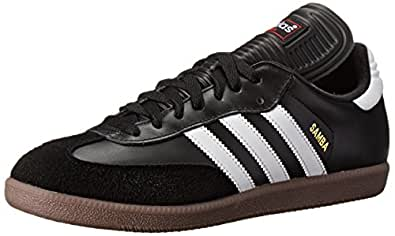 adidas Performance Men's Samba Classic Indoor Soccer Shoe,Black/Running White,6.5 M
