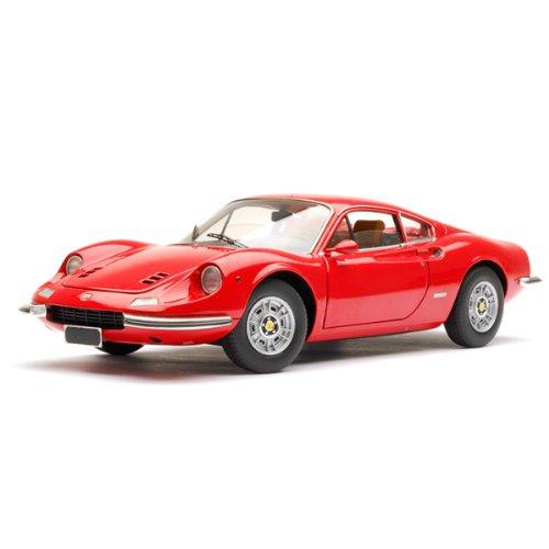 Mattel Hotwheels 1/18 Ferrari Dino 246GT Coupe ready made diecast car (red)