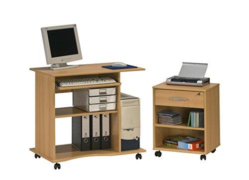 Maja 40245531 Tavolino per computer in finto legno di faggio, 800x750x500 mm