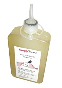 SimplyShred SGO12-Premium Paper Shredder Oil & Lubricant (12 OZ Bottle with Extension Nozzle)