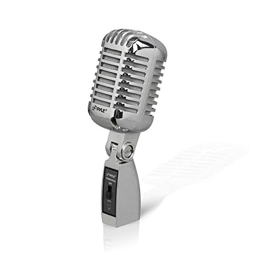 pyle-pdmicr42sl-classic-retro-vintage-style-dynamic-vocal-microphone-with-15ft-xlr-cable-silver