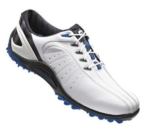 Footjoy 2013 Fj Sport Spikeless Golf Shoes White Blue Medium 9 Helen P Lovetiue