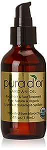 Pura d'or 100% Pure & USDA Organic Argan Oil (4 fl. oz.) For Face, Hair, Skin and Nails
