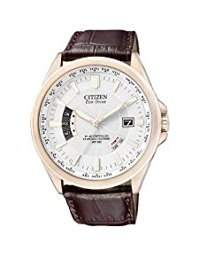 Citizen Herren-Armbanduhr XL Analog Quarz Leder CB0013-04A