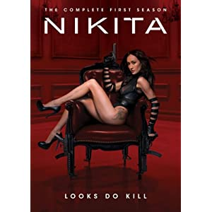 Nikita DVD cover, showing bare leg up to hip