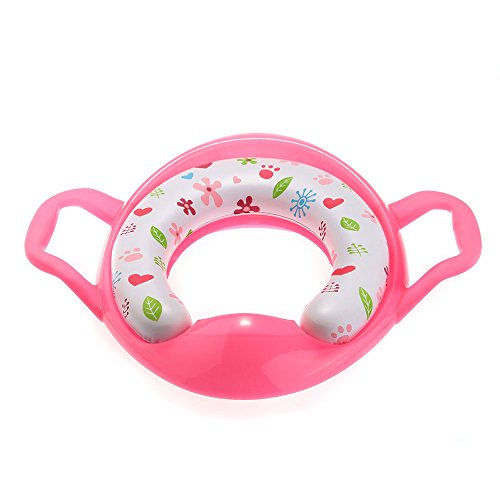 Baby Toddler Kids Safety Potty Training Toilet Seat Rose Red front-934803