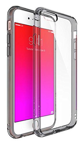 iPhone 6 / 6s Custodia - Ringke FUSION *** Tutto il Nuovo Shock Tecnologia di Assorbimento *** [Gratuito HD Protezione Pellicola dello schermo Incluso][SMOKE BLACK] Cristallo Chiaro Assorbimento di Scossa TPU Goccia Premio Protezione duro libero posteriore [Antigraffio][Attivo Toccare Technologia] per Apple iPhone 6 / 6s - Eco/DIY Pacchetto