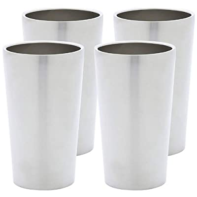 Maxam�?? 4pc Double Wall 13oz Stainless Steel Tumbler Set by Maxam