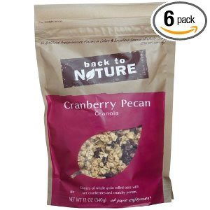 Back To Nature Cranberry Pecan Granola, 12-Ounce Pouches (Pack of 6) ( Value Bulk Multi-pack)